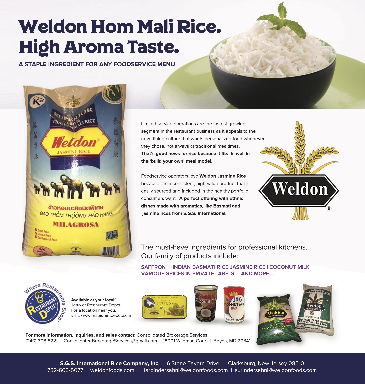 Weldon Full Page Oct2018 – S G S  International Rice, Inc